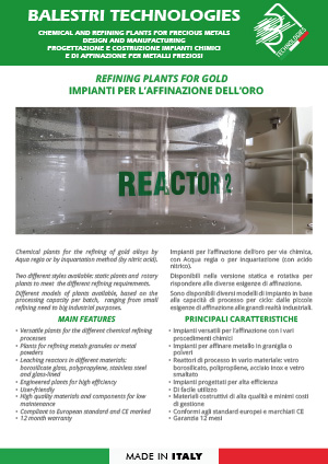 Refining plants for gold