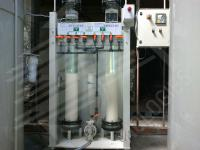 Ion-exchange resin recovery plant